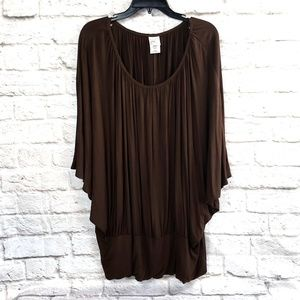 Just my Size women's Brown Knit Top Size 3X